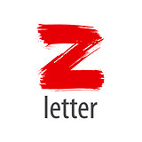 Creative vector logo red letter Z