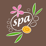 drawn vector logo accessories for spa salon