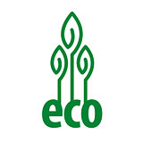 eco vector logo in the form of plant