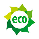 eco vector logo in the shape of a flower