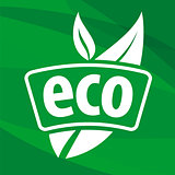 eco vector logo with floral patterns