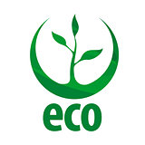 eco vector logo with green sprout