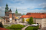 Krakow Wawel castle view