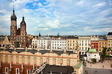 Krakow main square view
