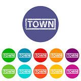 Town flat icon