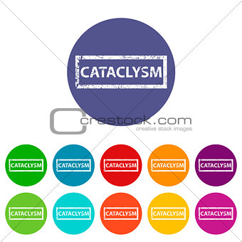 Cataclysm flat icon