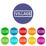 Village flat icon