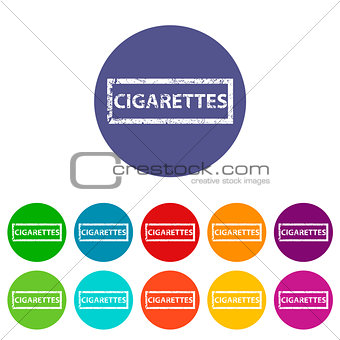 Cigarettes flat icon