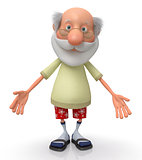 3d grandfather pensioner