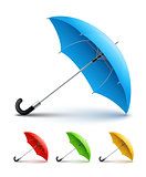Umbrellas color set