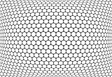 Hexagons pattern. Abstract textured latticed background.