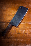 Old butcher's cleaver