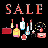 sale of cosmetics