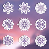 Snowflake labels
