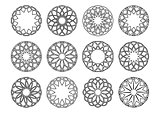 Round geometric ornaments