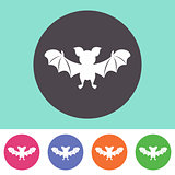 Cute bat icon