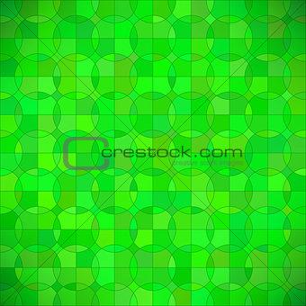 Green Geometric Circle Background