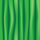 Green silk drapery textile background
