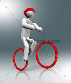 Cycling Mountain Bike 3D symbol, Olympic sports