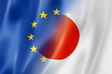 Europe and Japan flag