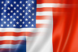 USA and France flag