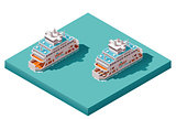 Vector isometric ferry