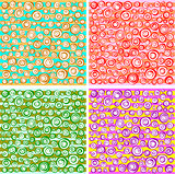 loop spiral concentric circles collection in different color