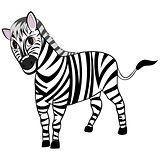 Funny Cartoon Zebra