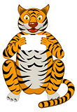 Funny Cartoon Tiger