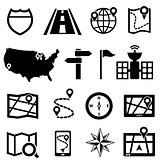 GPS and navigation icons