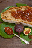 Bread and fig jam