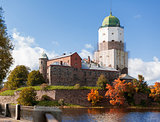 St Olov castle, medieval Swedish castle in Vyborg, Russia