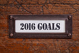 2016 goals - file cabinet label
