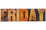 Friday word typography
