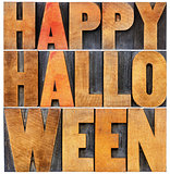 Happy Halloween word abstract