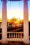 Sunset on Volga River