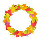 Colorful Autumn Wreath