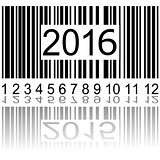 2016 new year on the barcode