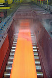 steel plate on conveyor