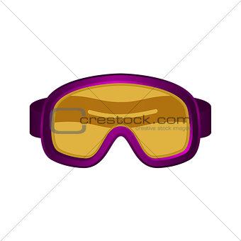 Ski sport goggles in dark purple design