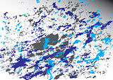 Ink texture background isolate gray-white background