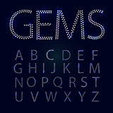 Gems alphabet. All capital letters.