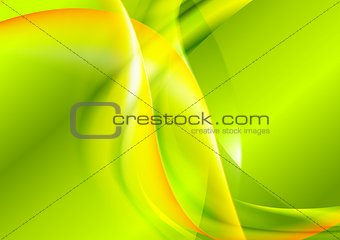 Bright green yellow waves design