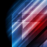 Dark blue red tech vector background