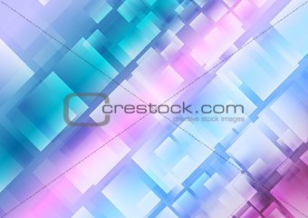 Abstract blue purple squares background
