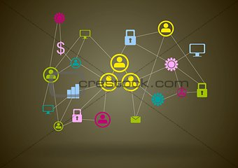 Abstract bright communication design background