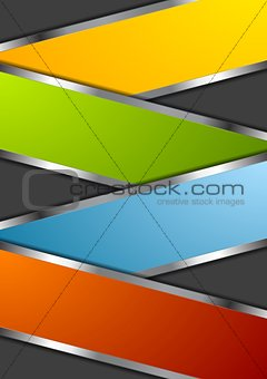 Bright metal vector design background