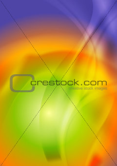 Bright iridescent abstract wavy background