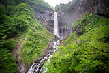 Silk water in the bottom of Kegon Falls, Nikko