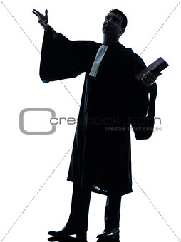 lawyer man pleading silhouette